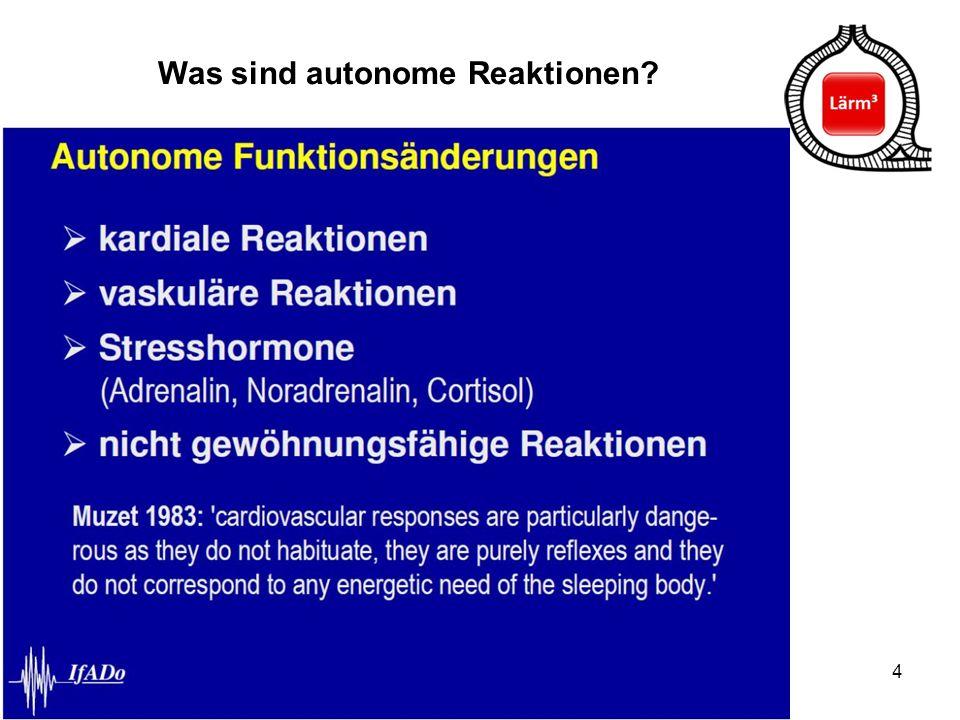Was sind autonome Reaktionen