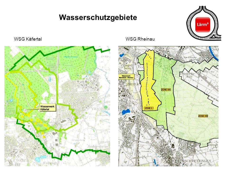 Wasserschutzgebiete WSG Käfertal WSG Rheinau.