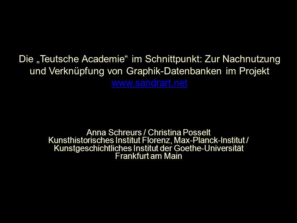"""Die """"Teutsche Academie im Schnittpunkt: Zur Nachnutzung"""