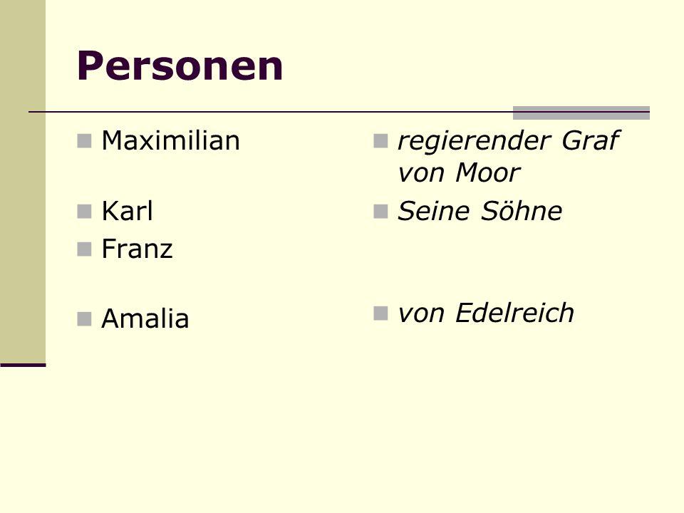 Personen Maximilian Karl Franz Amalia regierender Graf von Moor