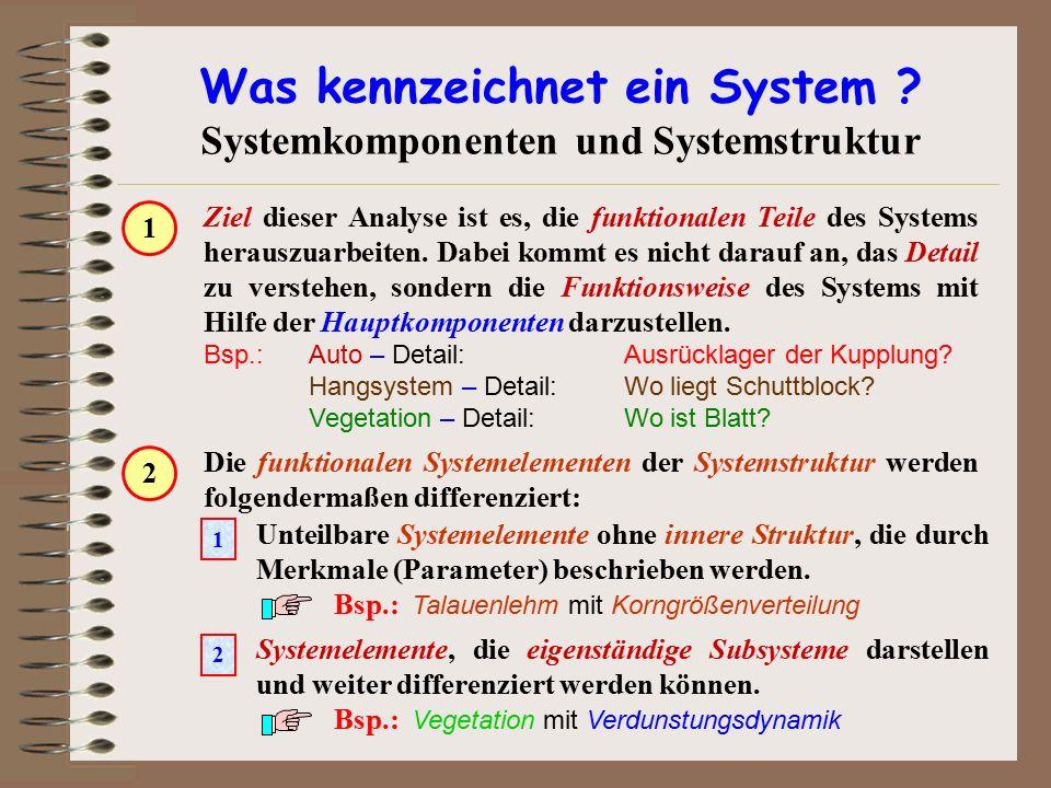 Was kennzeichnet ein System Systemkomponenten und Systemstruktur