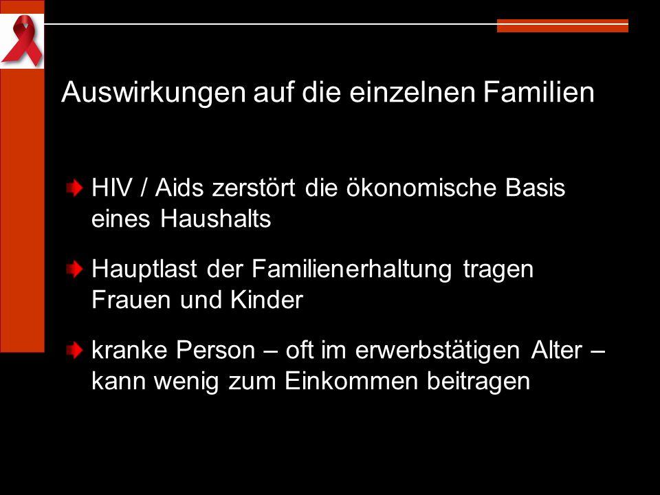 Auswirkungen auf die einzelnen Familien
