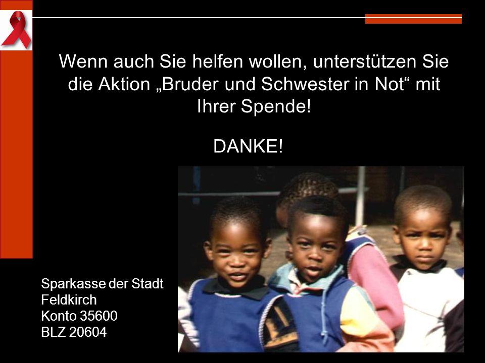 """Wenn auch Sie helfen wollen, unterstützen Sie die Aktion """"Bruder und Schwester in Not mit Ihrer Spende!"""