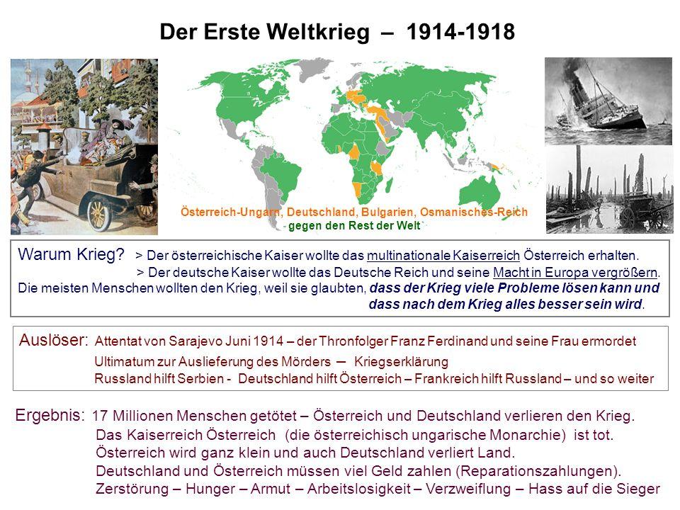 Österreich-Ungarn, Deutschland, Bulgarien, Osmanisches-Reich