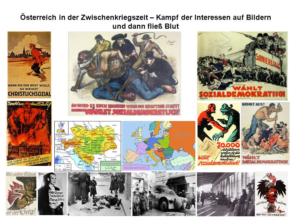 Österreich in der Zwischenkriegszeit – Kampf der Interessen auf Bildern