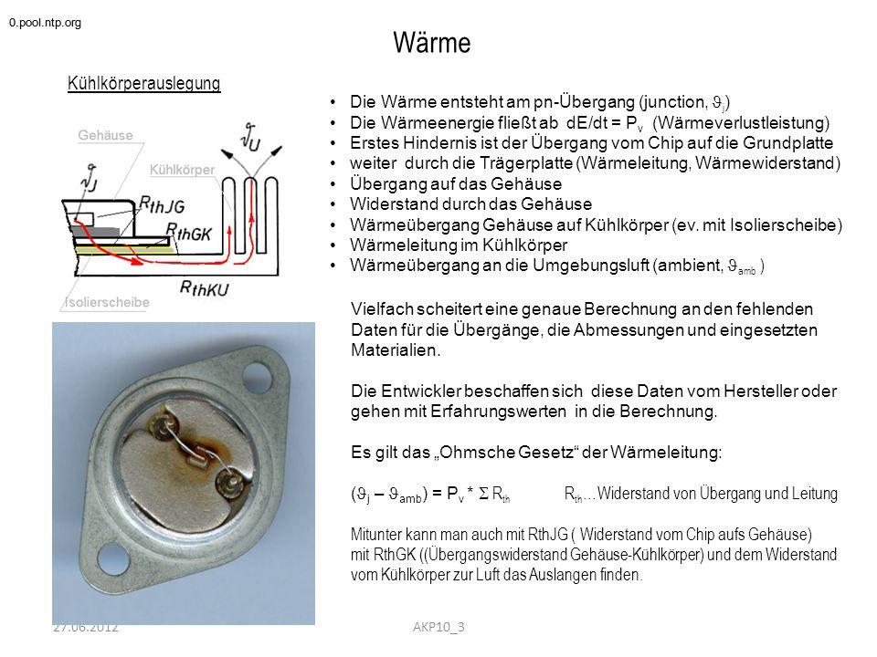 Wärme Kühlkörperauslegung