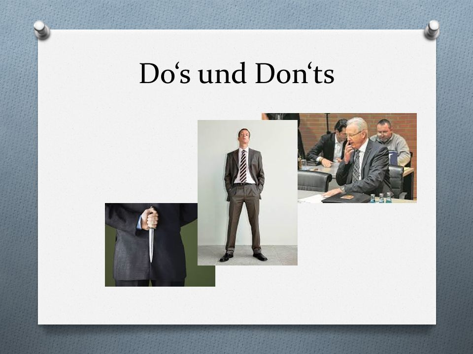 Do's und Don'ts