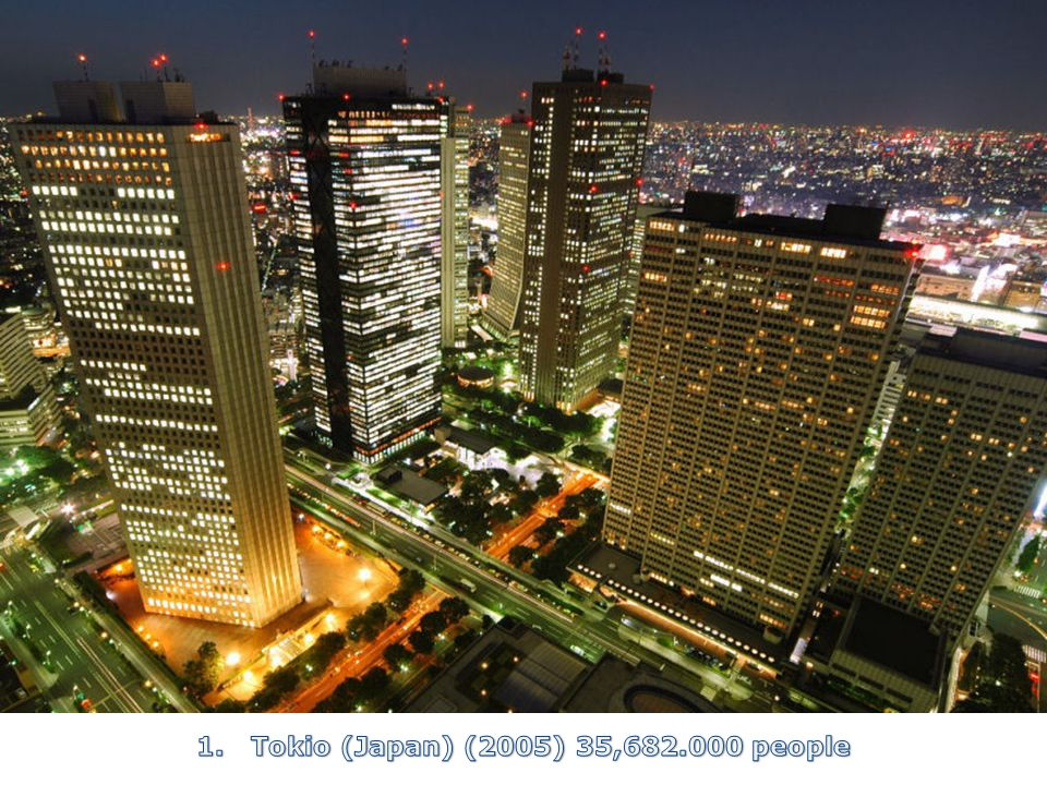 1. Tokio (Japan) (2005) 35, people