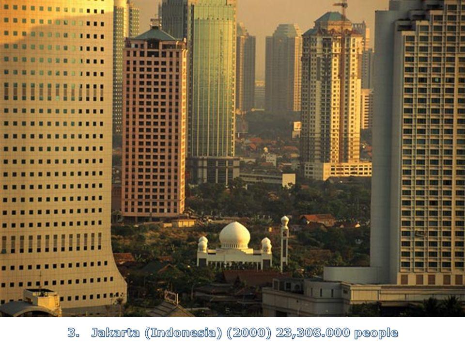 3. Jakarta (Indonesia) (2000) 23,308.000 people