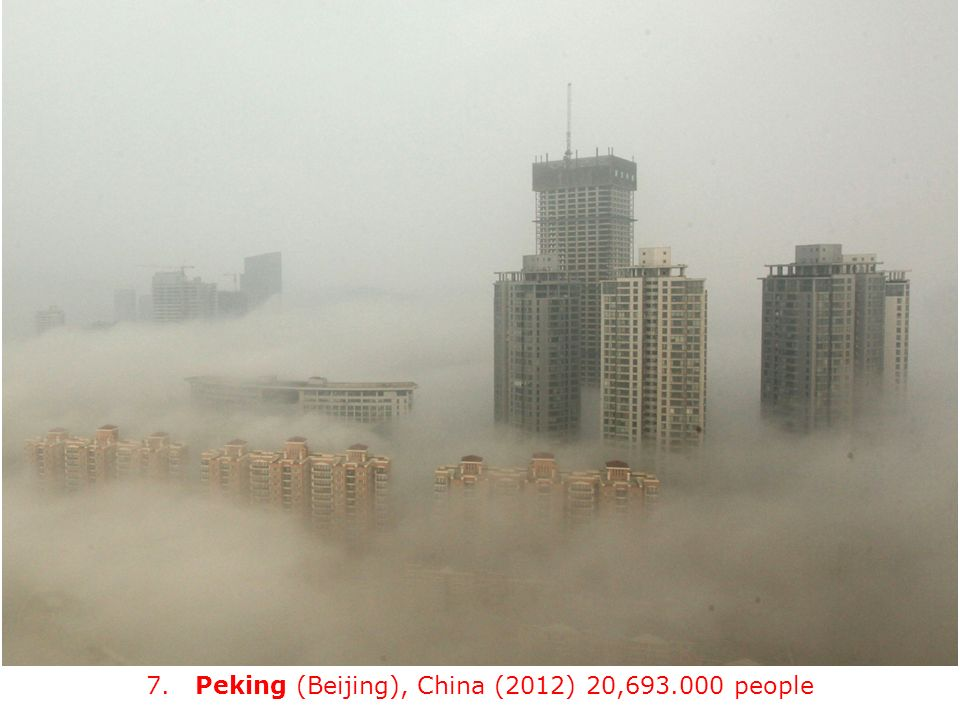 7. Peking (Beijing), China (2012) 20, people