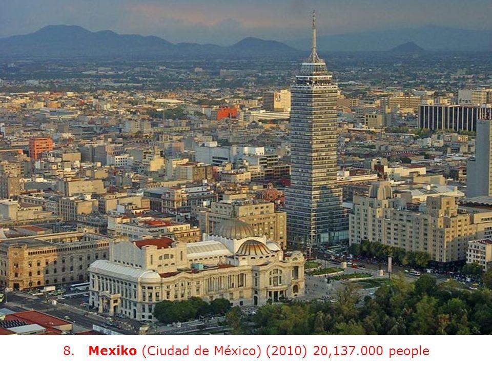 8. Mexiko (Ciudad de México) (2010) 20,137.000 people
