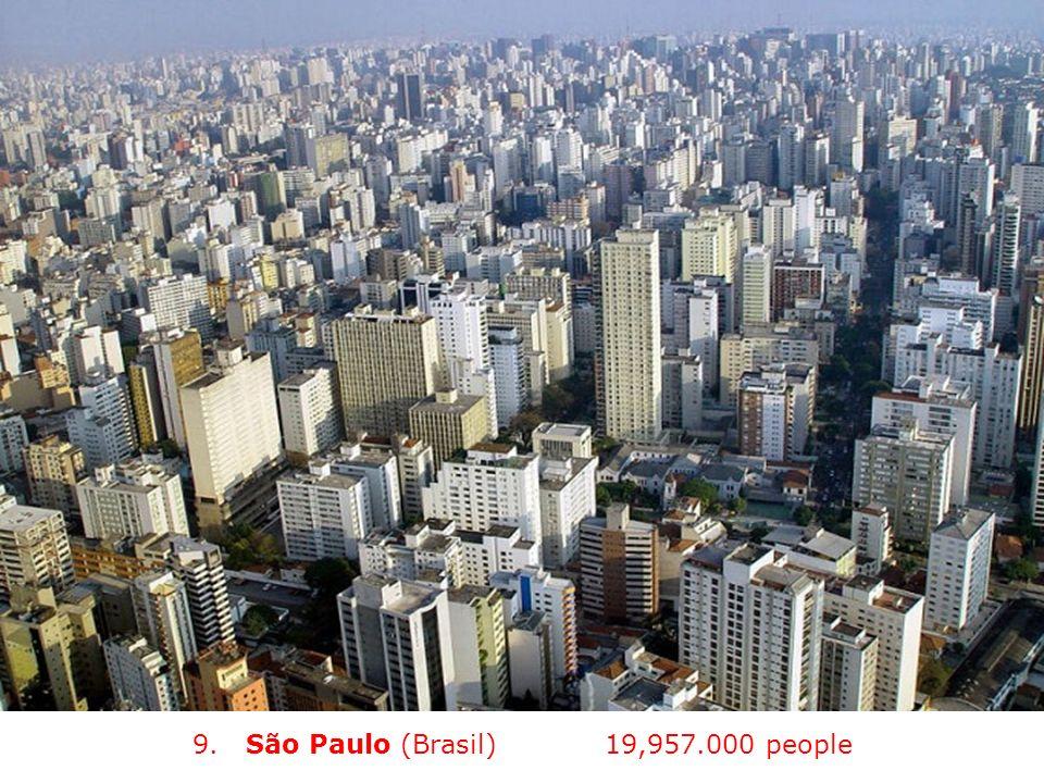 9. São Paulo (Brasil) (2012) 19,957.000 people