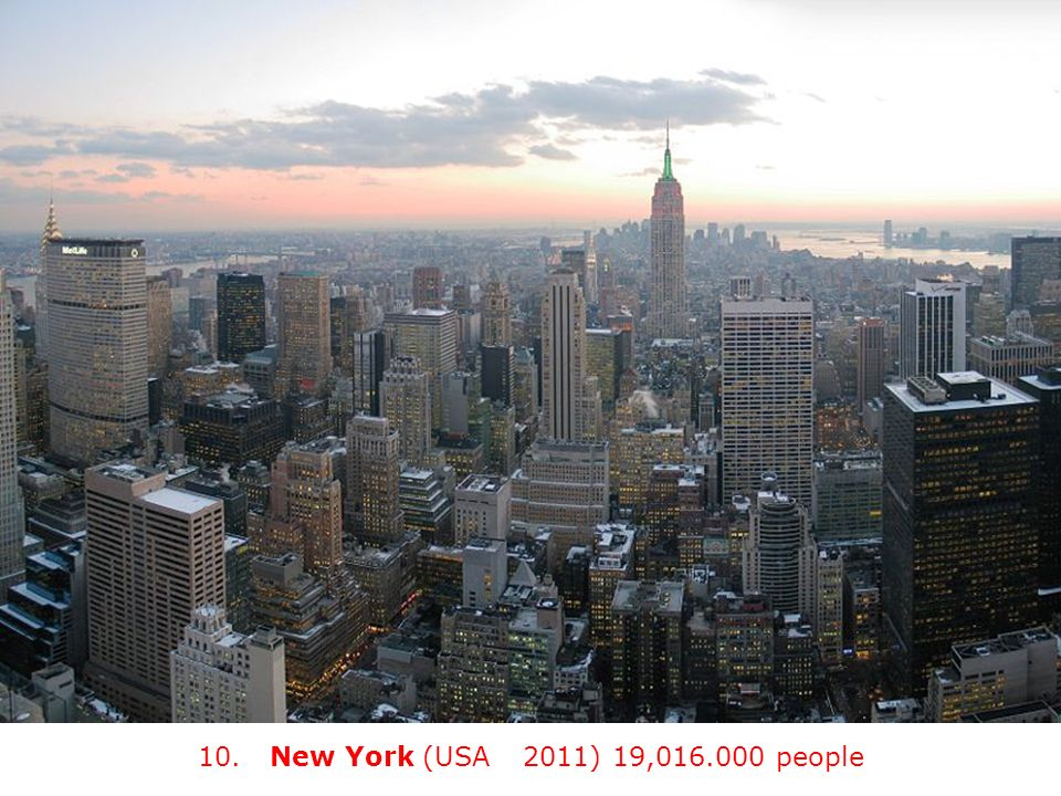 10. New York (USA) (2011) 19, people