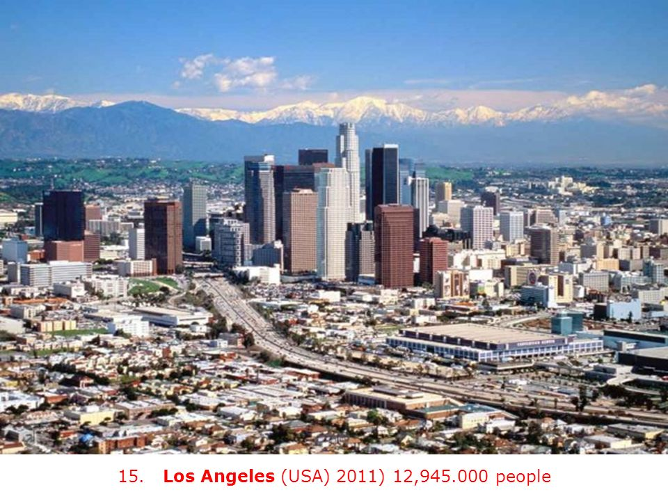 15. Los Angeles (USA) 2011) 12, people