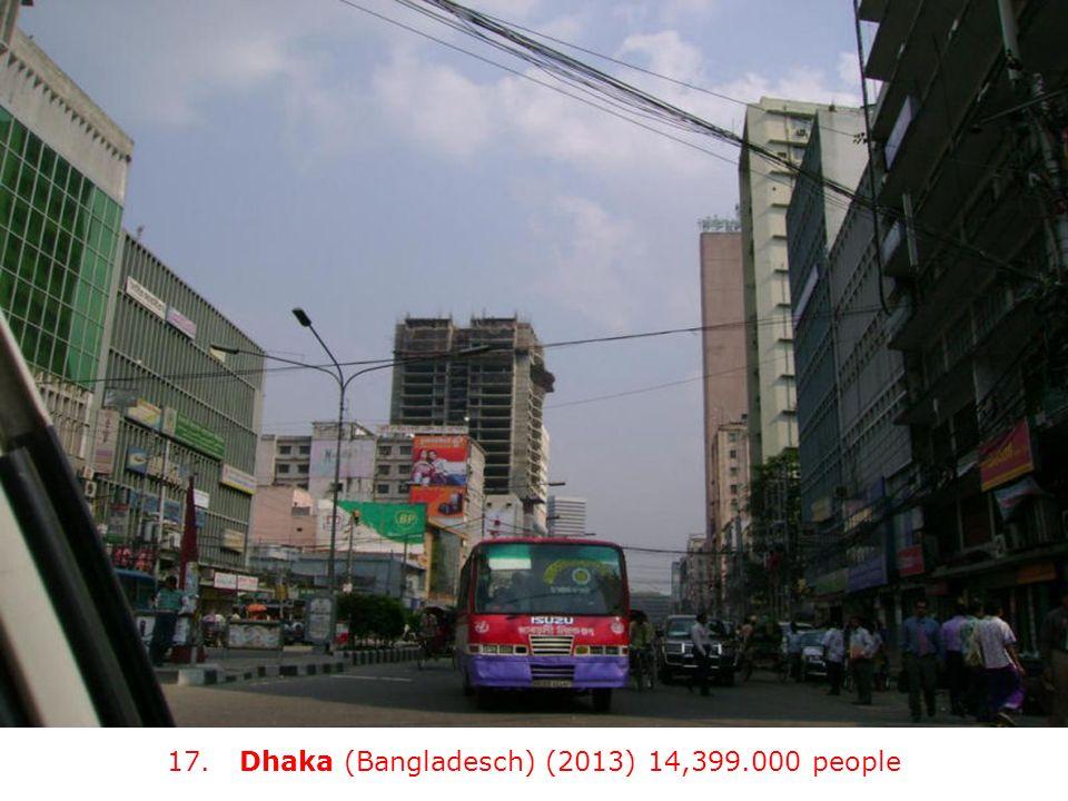 17. Dhaka (Bangladesch) (2013) 14,399.000 people