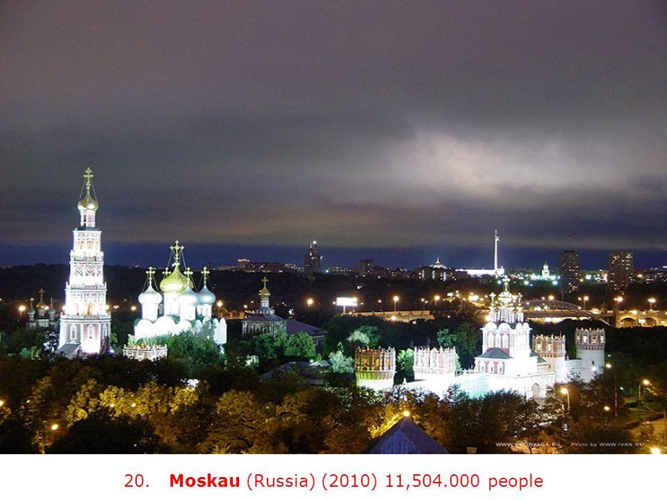 20. Moskau (Russia) (2010) 11,504.000 people