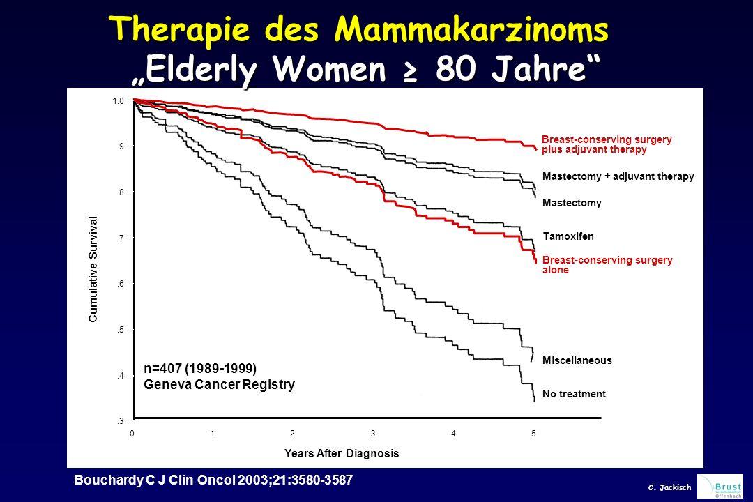 """Therapie des Mammakarzinoms """"Elderly Women ≥ 80 Jahre"""
