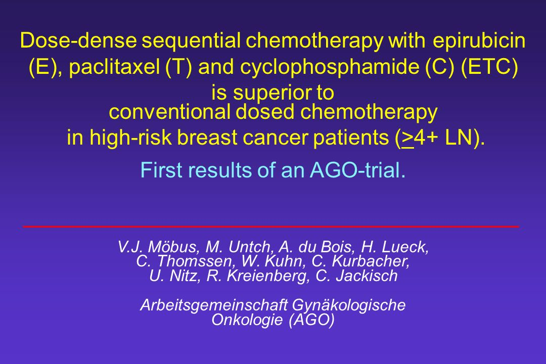 conventional dosed chemotherapy
