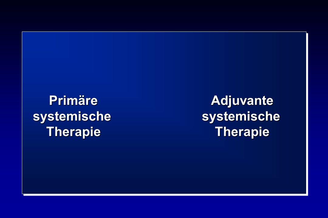 Primäre systemische Therapie Adjuvante systemische Therapie