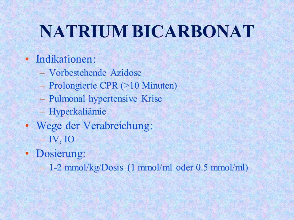 NATRIUM BICARBONAT Indikationen: Wege der Verabreichung: Dosierung: