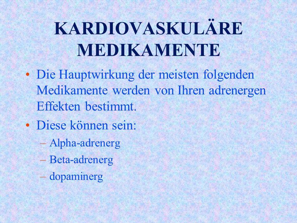 KARDIOVASKULÄRE MEDIKAMENTE