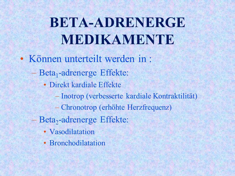 BETA-ADRENERGE MEDIKAMENTE
