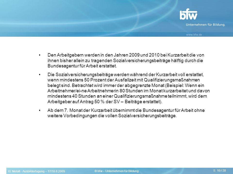© bfw – Unternehmen für Bildung