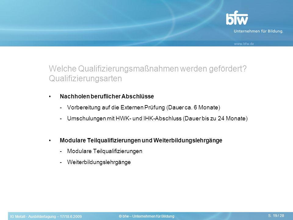 Welche Qualifizierungsmaßnahmen werden gefördert Qualifizierungsarten