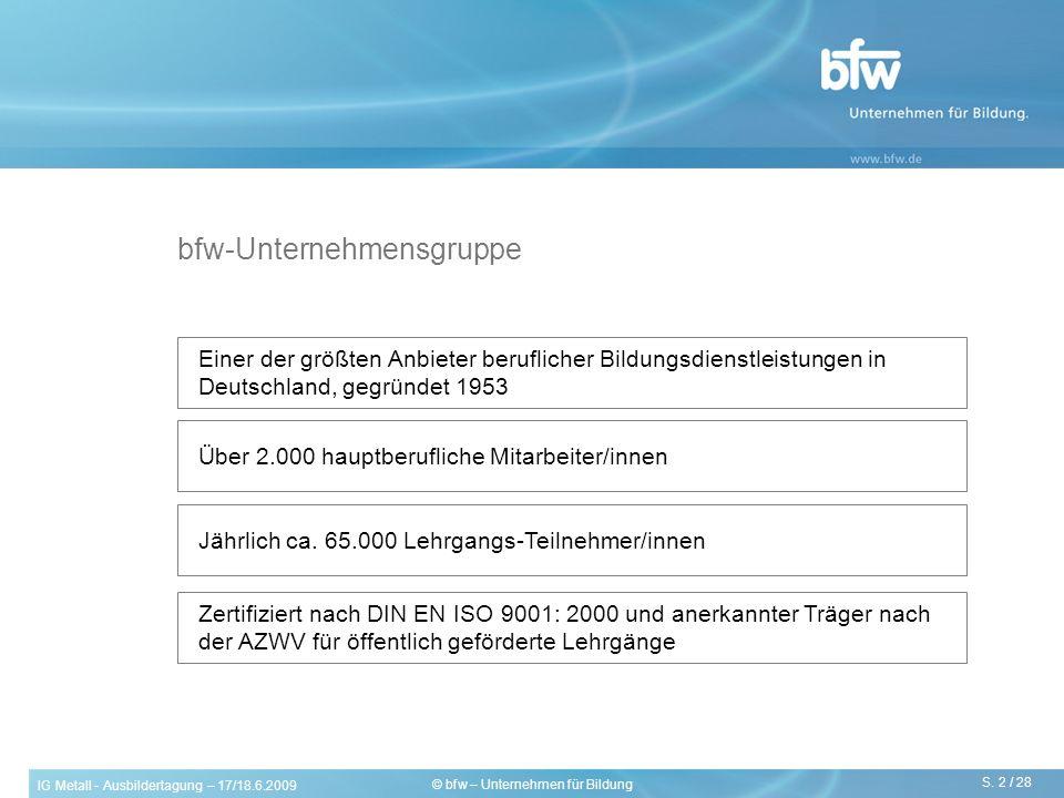 bfw-Unternehmensgruppe