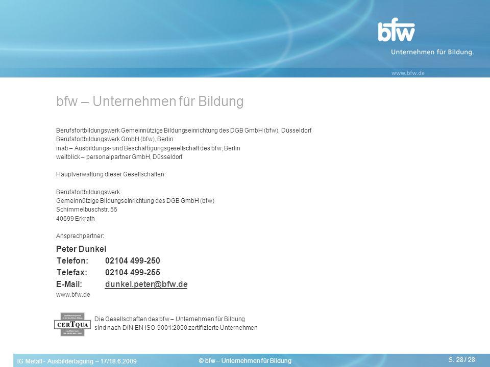 bfw – Unternehmen für Bildung