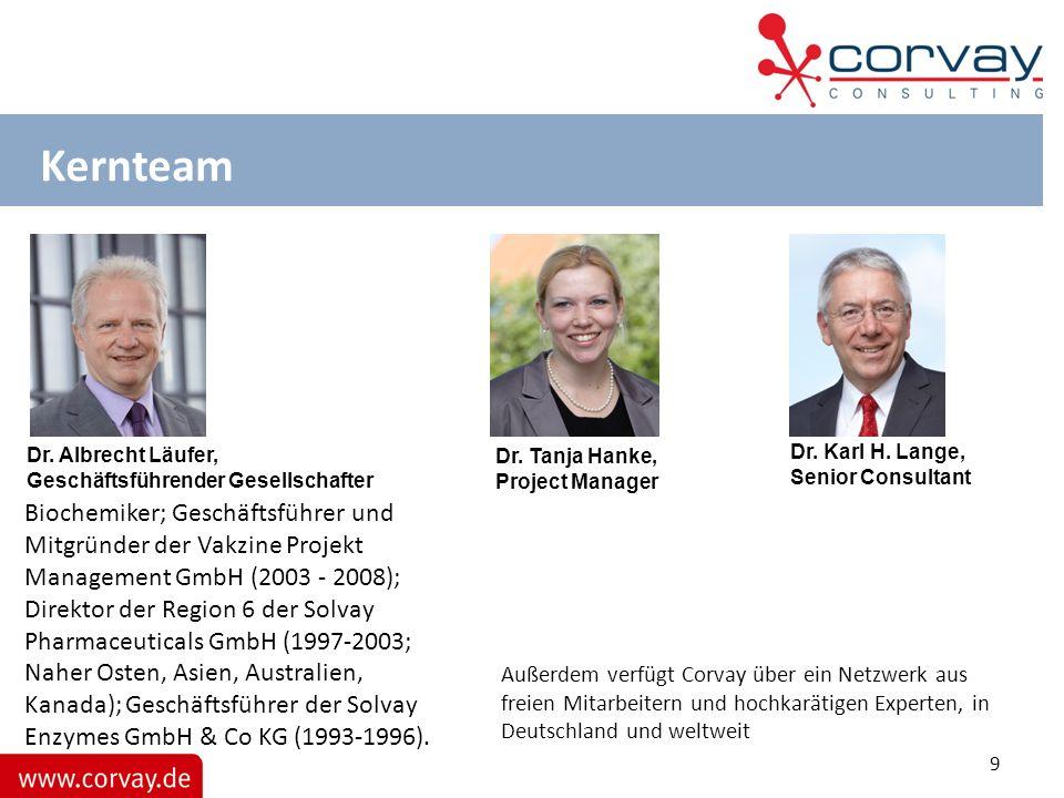 Kernteam Biochemiker; Geschäftsführer und