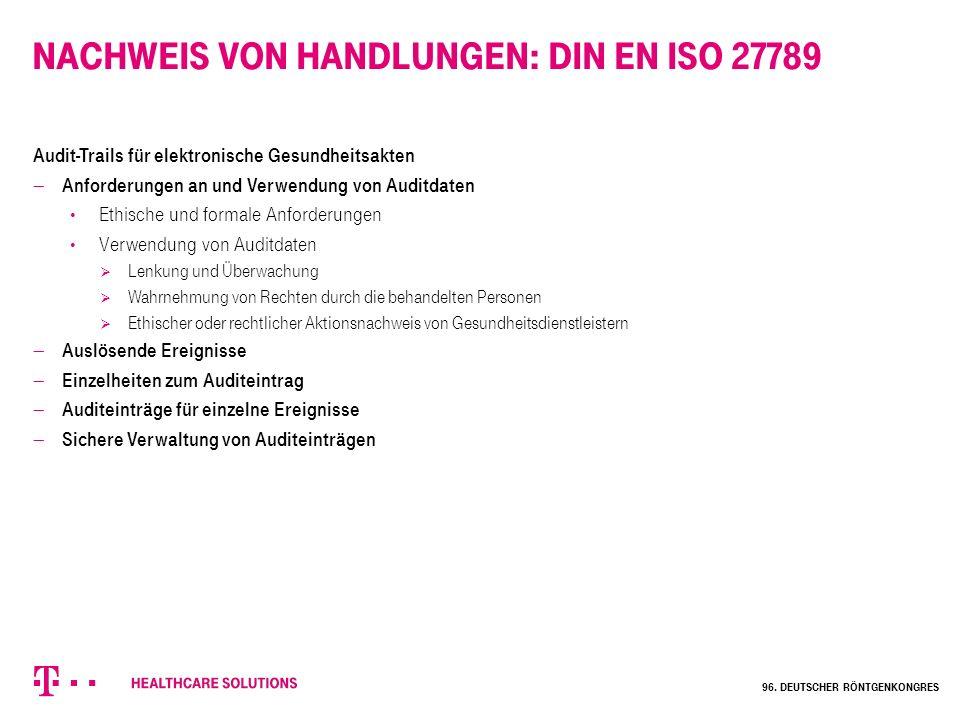 Nachweis von Handlungen: DIN EN ISO 27789
