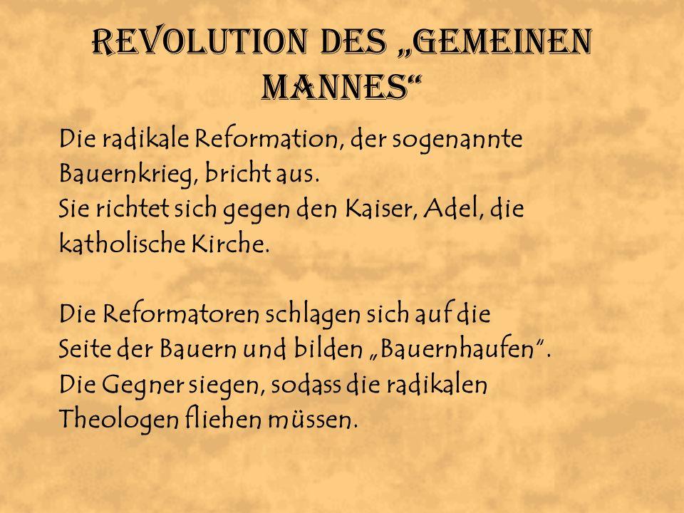 """Revolution des """"Gemeinen Mannes"""
