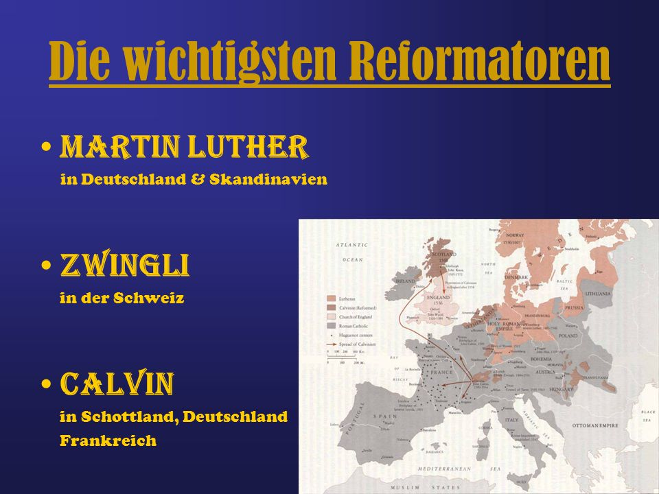 Die wichtigsten Reformatoren