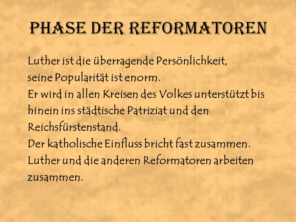 Phase der Reformatoren