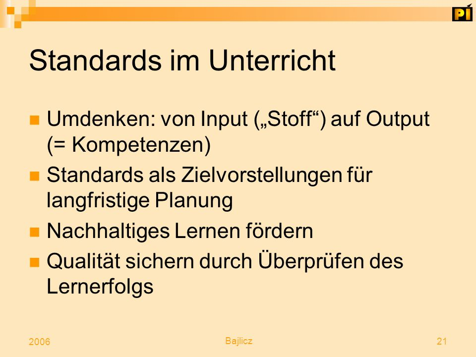 Standards im Unterricht