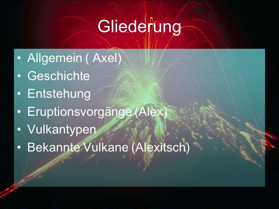 Gliederung Allgemein ( Axel) Geschichte Entstehung