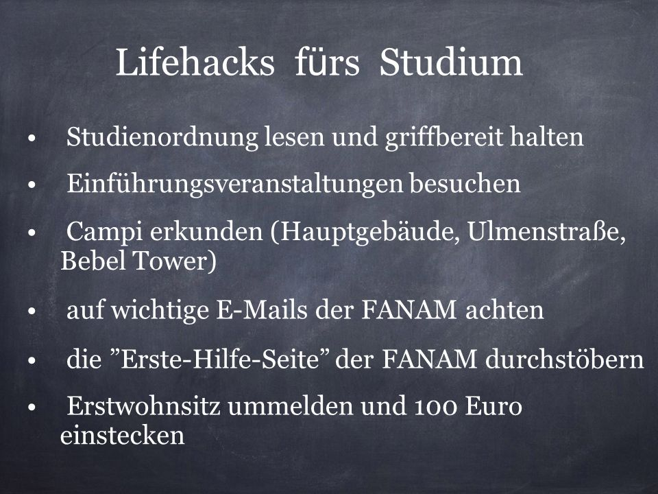 Lifehacks fürs Studium