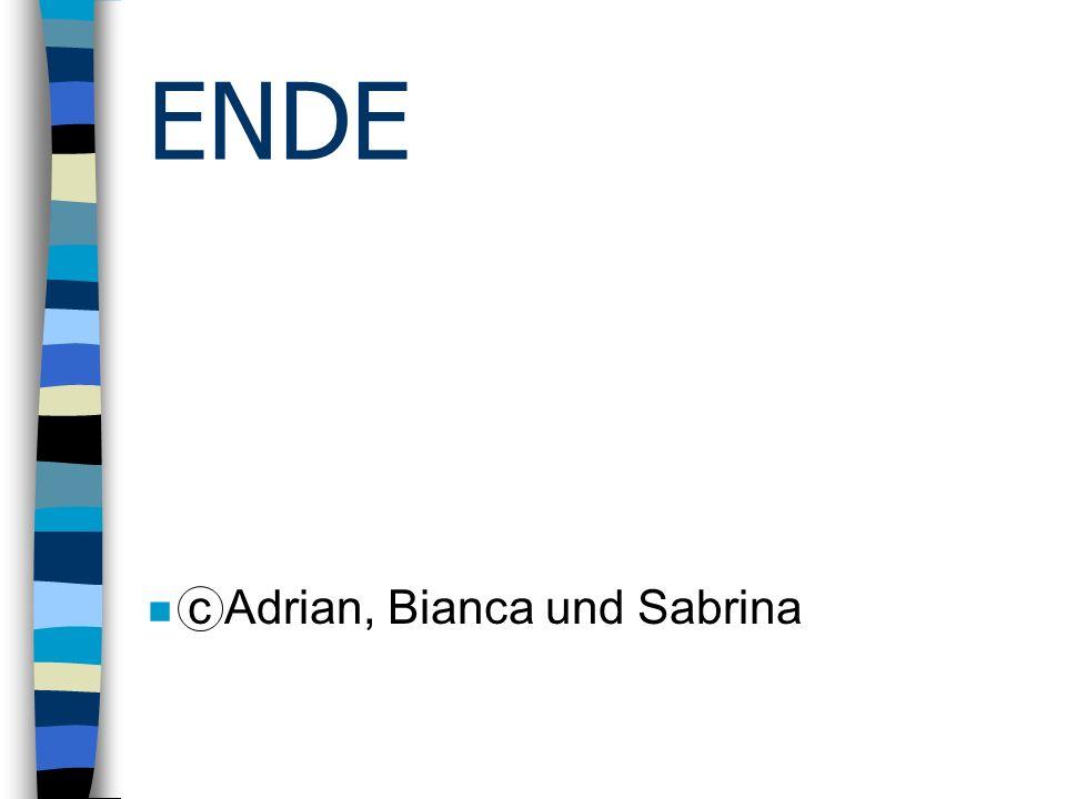 ENDE c Adrian, Bianca und Sabrina