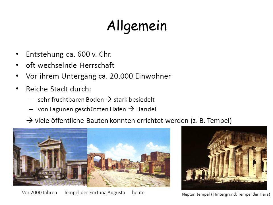 Allgemein Entstehung ca. 600 v. Chr. oft wechselnde Herrschaft