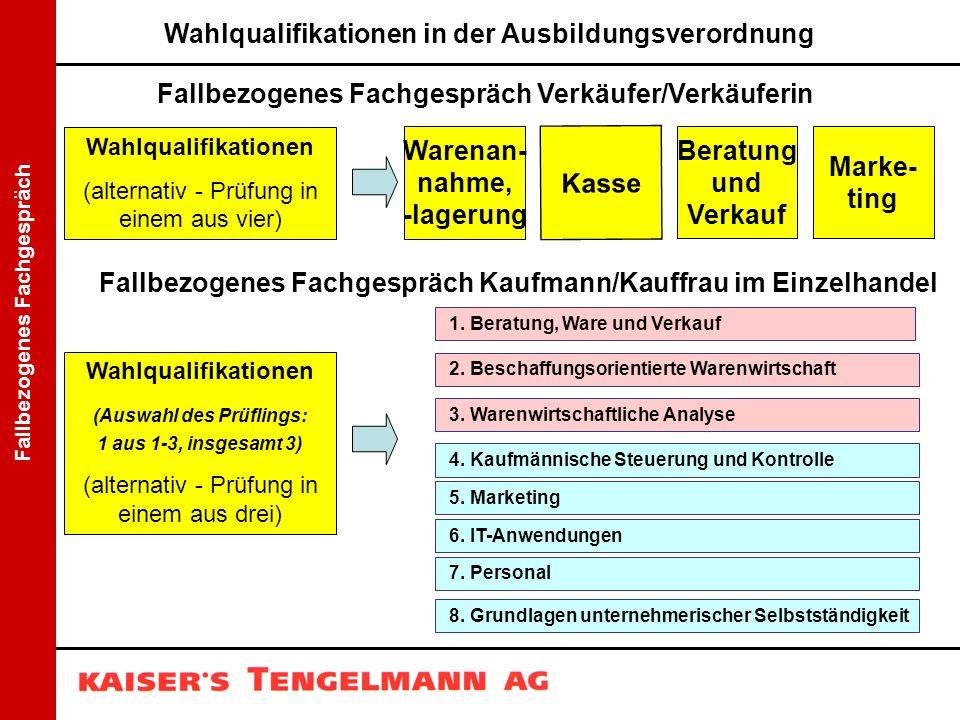 Wahlqualifikationen in der Ausbildungsverordnung