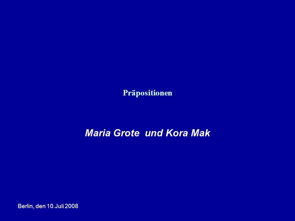 Maria Grote und Kora Mak