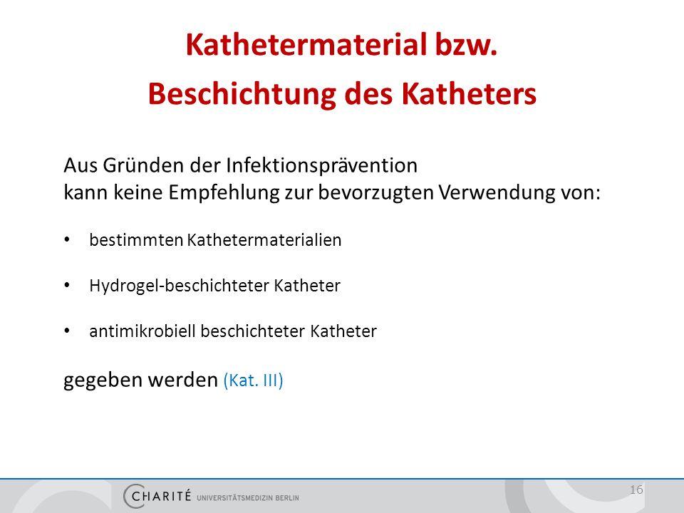 Prävention von Katheter-assoziierten Harnwegsinfektionen im Krankenhaus