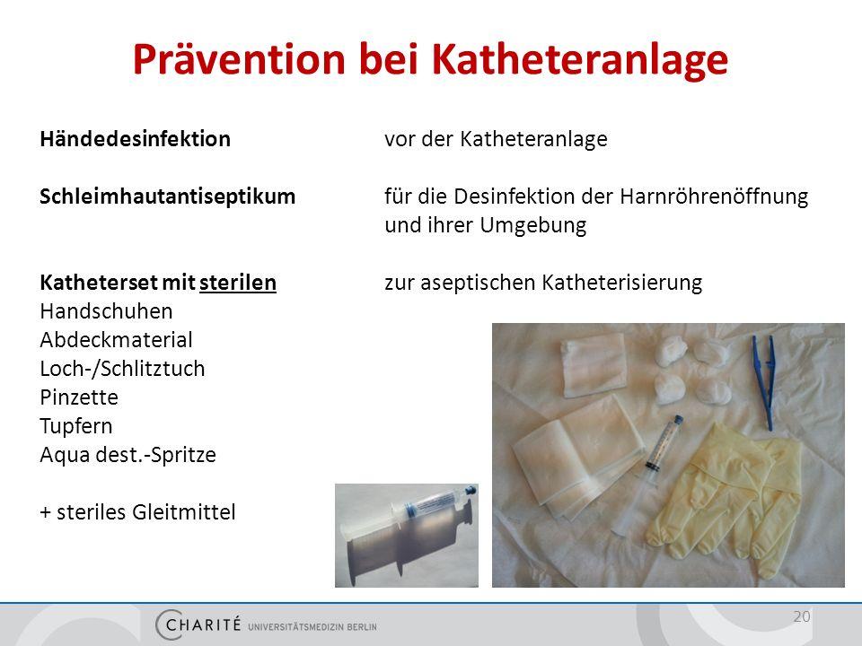Prävention bei Katheteranlage