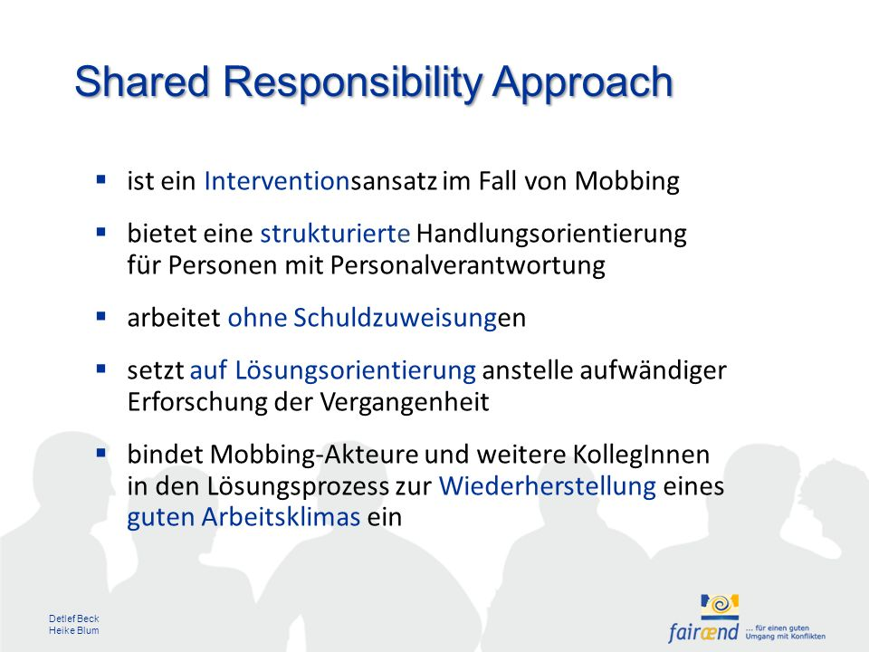 Shared Responsibility Approach