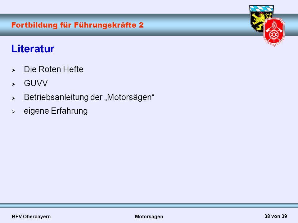 """Literatur Die Roten Hefte GUVV Betriebsanleitung der """"Motorsägen"""