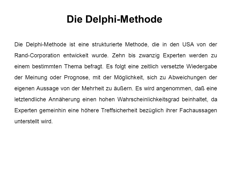 Die Delphi-Methode