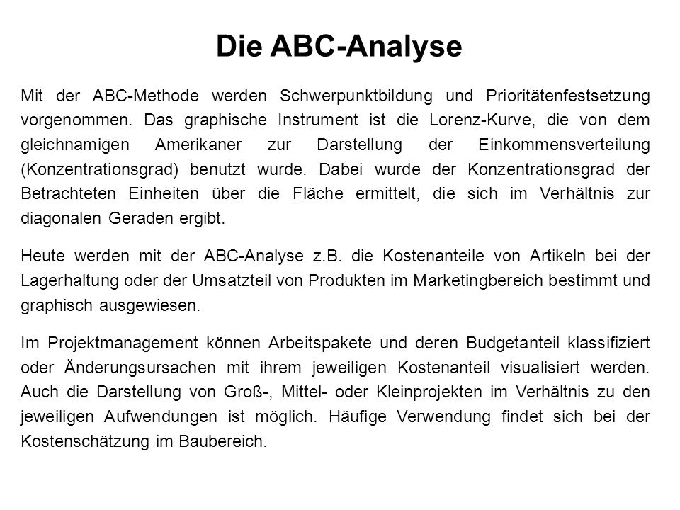Die ABC-Analyse