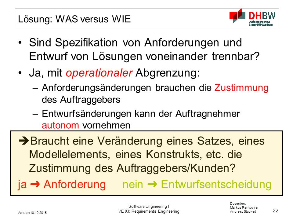 Ja, mit operationaler Abgrenzung: