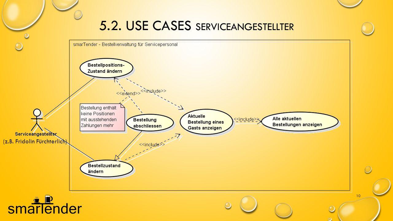 5.2. Use Cases Serviceangestellter